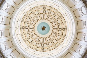 Interior Rotunda of the Texas State Capitol Building Austin, Tex